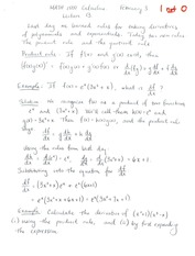 MATH 1500 Week 5 Notes