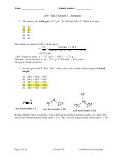 McMaster Chem 1A03 test 2 answers 2011