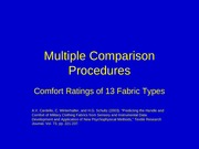 Multiple Comparison Procedures fabric1