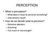 Class 3 perception with notes