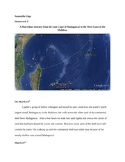 Homework_Chapter2 - A Marvelous Journey from the East Coast of Madagascar to the West Coast of the M
