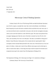 BSC 2010 Lab Microscope Critical Thinking Question.docx
