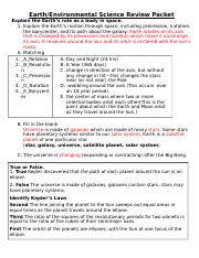 Earth Environmental Science Review Packet Answers - The ...