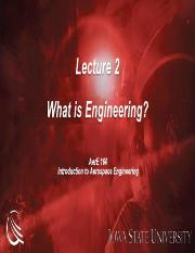 Aere 160 - Lecture 2 - What Is Engineering