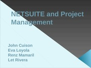 SEM 1 - 3ISB - NETSUITE & PROJECT MANAGEMENT