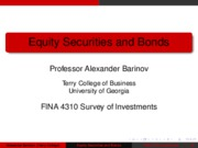 01 Equity Securities and Bonds