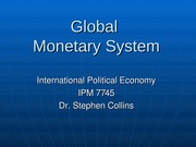 Week 5   - Monetary System