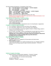 Cognitive Science Notes 7