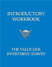 VALUE LINE Investment workbook