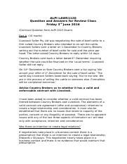 Exam Review Question  Answers (Contract) 2016.docx