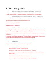 A&P Exam II Study Guide.docx