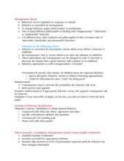 Notes for behavior modification