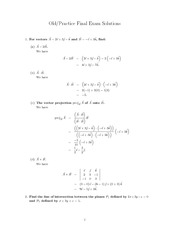 MATH23 Practice Final Solution