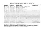 PHYS1101_LABORATORY_SCHEDULE_SPRING_2012