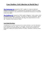 WWI Civil Liberties Case Studies.docx