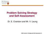 8_Strategy and Self Assessment