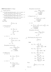 Exam 3 Study Guide Solution Spring 2009 on Engineering Mathematics III (Numerical Methods)