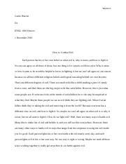 Research Paper How to Combat Evil.docx