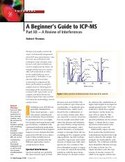 A Beginner's Guide to ICP-MS