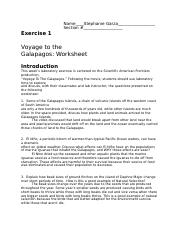 Voyage To The Galapagos Worksheet Answers Promotiontablecovers
