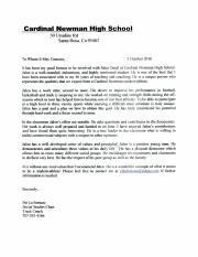 Reference Letter from LaFortune