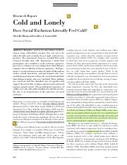 cold and lonely- Does Social Exclusion literally feel cold.pdf