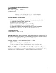 Epidemiology and Biostatistics Lecture Notes  5