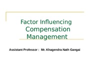 Session#2 Factor Influence Compensation Mangement
