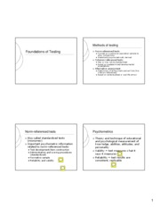 foundations of testing