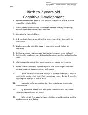 Copy of Birth to 2 years old Cognitive Development.docx