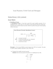 4D Loan Payments Credit Cards and Mortgages