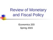Review of economic policy