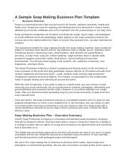 A Sample Soap Making Business Plan Template.docx