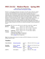 PHY 251 Sp01 Course Info