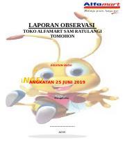 Laporan Observasi Docx Laporan Observasi Toko Alfamart Sam Ratulangi Tomohon Disusun Oleh U201c Angel Angkatan 25 Juni 2019 Mengetahui Acos Kata Course Hero