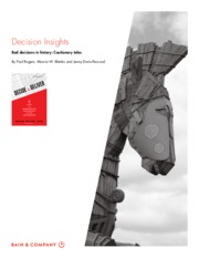 DECISION INSIGHTS Bad decisions in history - Cautionary tales