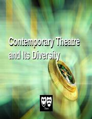 Ch9 Contemporary theatre and its diversity