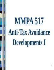 MMPA 517 MNE Anti-Tax Avoidance Moves I 2016.pptx