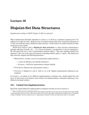 Disjoint-Set Data Structures notes