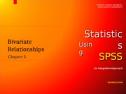 Chapter 5 Statistics Using SPSS Version 1