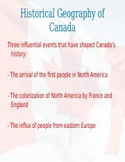 Lecture 4 - Historical Geography of Canada.ppt