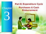 Chapter 3 - Part II (Purchase Cycle)