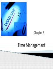 CH 5 - Time Management