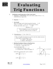 15Evaluating Trig Functions