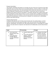 1305 Midterm Project Program Analysis Worksheet.docx
