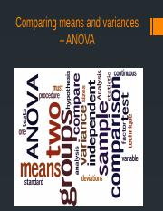 Comparing means and variances – ANOVA (1).pptx