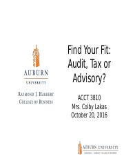 9. Audit, Tax, Advisory - October 20th.pptx