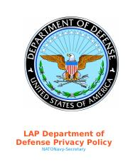 DOD Privacy Policy