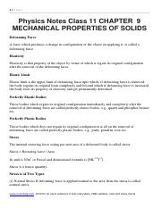 Physics Notes Class 11 CHAPTER  9 MECHANICAL PROPERTIES OF SOLIDS.pdf