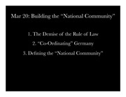 Building the National Community
